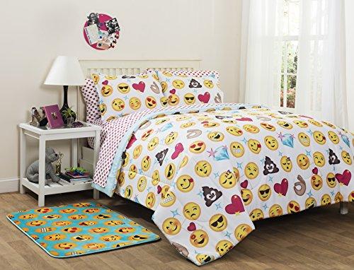Emoji Pals Reversible Bed in a Bag Comforter Set Full