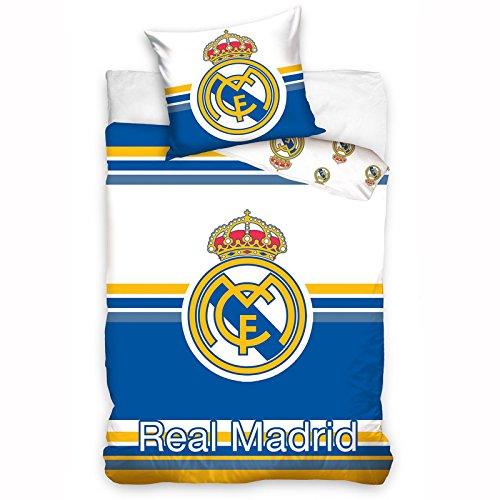 Real Madrid CF Horizontal Striped SingleUS Twin Cotton Duvet Cover Set