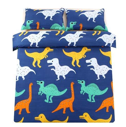 Sandyshow 2PC Dinosaure Bedding for Children Twin Microfiber Duvet Cover Set FullQueen Size Optional Dinosaure ComforterFullQueen