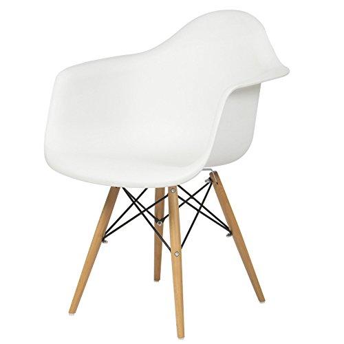 Armchair Mid Century Modern Molded Plastic Shell Arm Chair by Tamsun