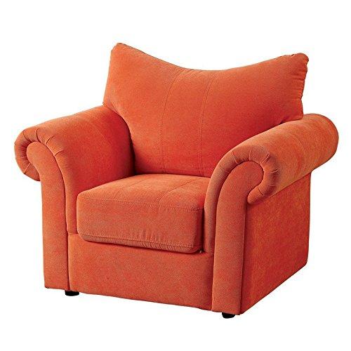Irma Orange Flannelette Finish Youth Armchair