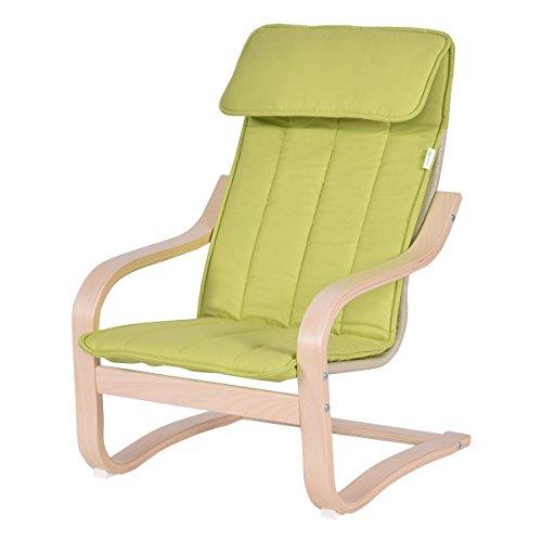 Kids Armchair Children Leisure Lounge Wood Home Furniture Kiddie Green