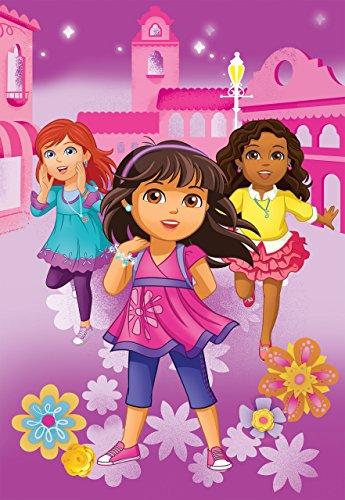 Nick Jr Dora and Friends City Girls Micro Raschel Blanket 62 by 90-Inch
