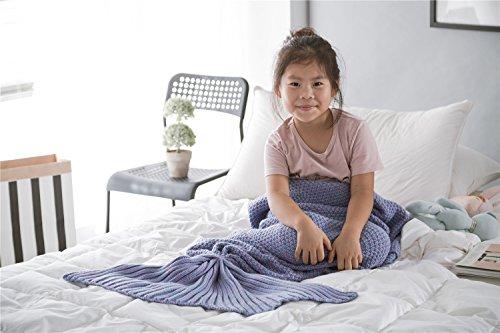 Summer Mermaid Super Soft Blanket for Children Girls Adult Purple