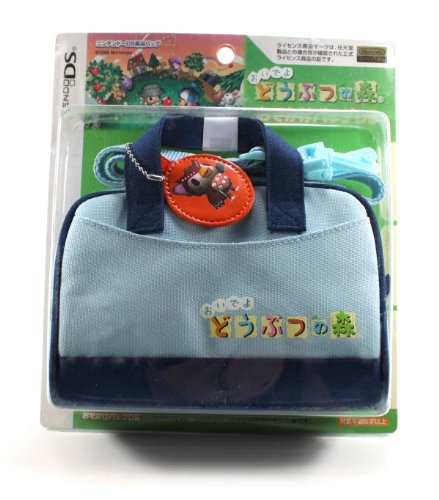 Blue Animal Crossing Carry Case Bag with Shoulder Strap for Nintendo Ds 3ds Dsi Ds Lite