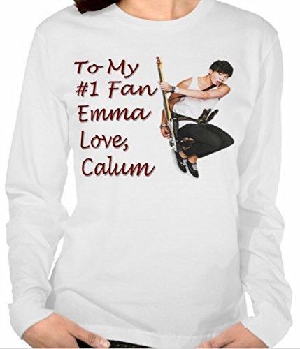 GIFT SET Pillowcase Long Sleeve Tee Calum Hood 5SOS 5 SOS 5 Seconds of Summer Personalized T-shirt For Teen Girl Pillow Case Short Sleeve Tshirt T Shirt