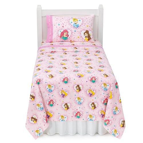 Disney Princess Full Heavyweight Flannel Sheet Set