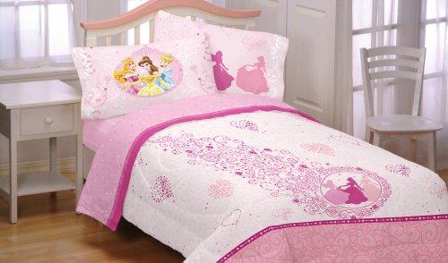 Disney Princess Hearts 3pc Pink Cinderella Twin Sheet Set