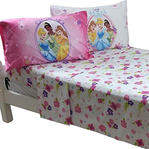 Disney Princess Royal 4-Piece Full Sheet Set Cinderella Tiana Belle