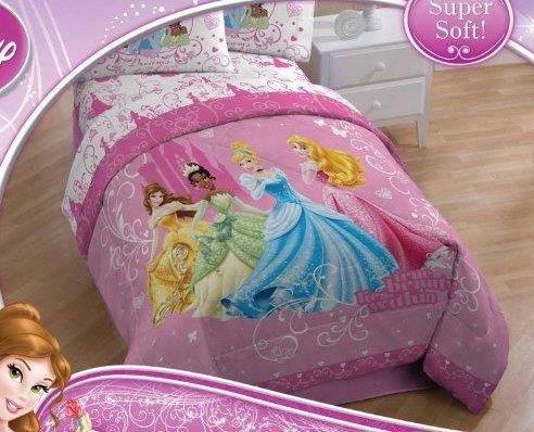 Disney Princess Sheet Set in Twin Size ~ Cinderella Tiana Sleeping Beauty Belle