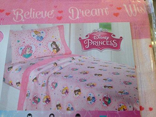 Disney Princess Twin Heavyweight Flannel Sheet Set