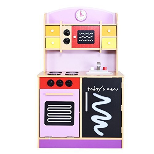 Generic Wood Kitchen Toy Kids Cooking Pretend Play Set Toddler Wooden Playset