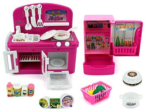 Mini Dream Kitchen Childrens Kids Toy Kitchen Playset w Accessories