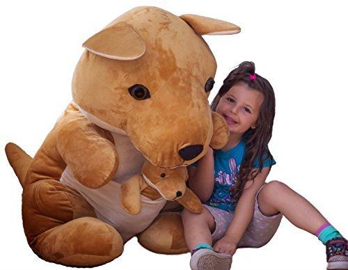 U-B Cuddly 3ft Tall Jumbo Kangaroo with Baby by U-B Cuddly