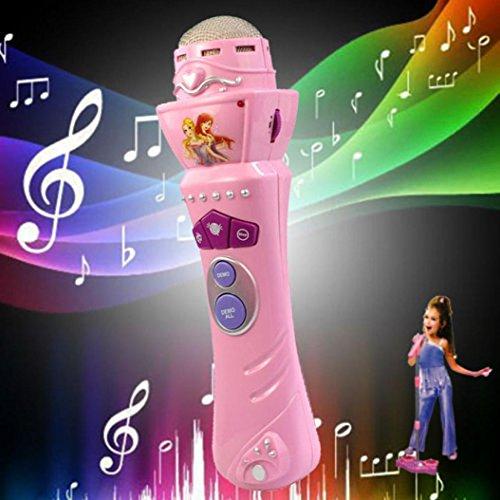 GOTD Rock Musical Toy Wireless Girls Boys LED Microphone Karaoke Singing Kid Funny Music Toy