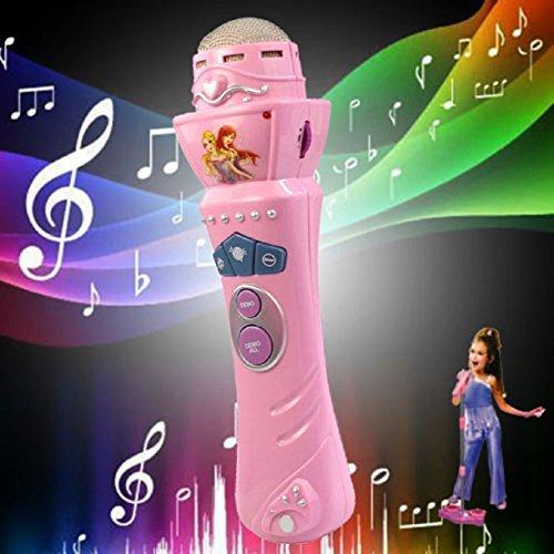 LookatoolNew Wireless Girls boys LED Microphone Mic Karaoke Singing Kids Funny Gift Music Toy Pink