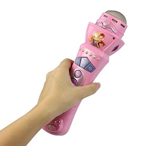 SMTSMT Wireless Girls Boys LED Microphone Karaoke Singing