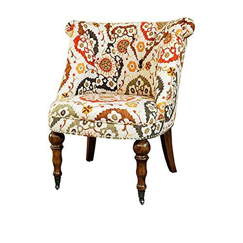 Crestview Collection CVFZR1303 Birch Hutchison Pattern Fabric Chair