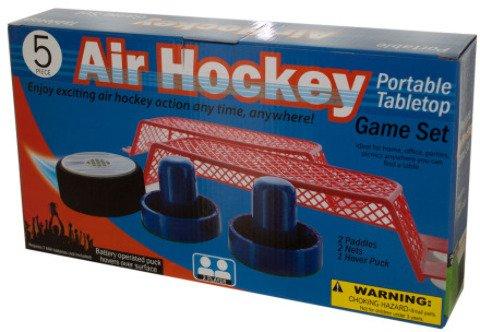 Portable Tabletop Air Hockey Game Set  Kid Toy  Hobbie  Nice Gift