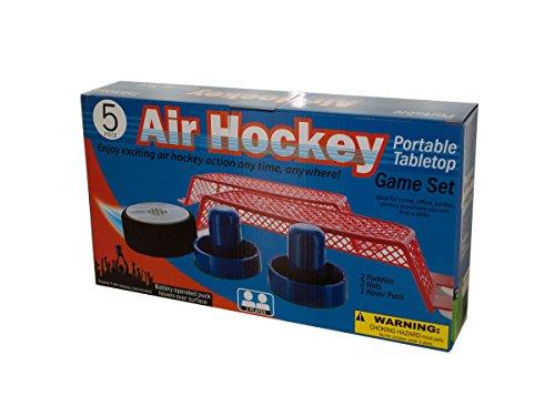 Portable Tabletop Air Hockey Game Set Kids Children