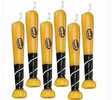 WILTON BASEBALL BAT 6-Piece Candle Set 2811-750