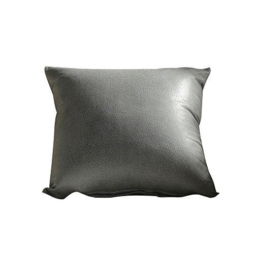 Imitation Leather Sofa Waist Throw Pillow Cases Home Decor