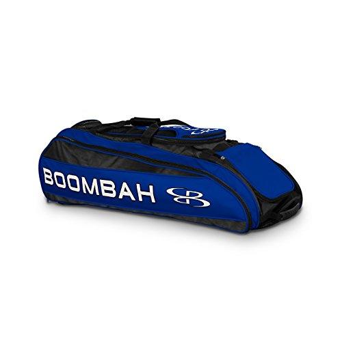 Boombah Beast Baseball  Softball Bat Bag - 40 x 14 x 13 - BlackRoyal Blue - Holds 8 Bats Glove Shoe Compartments
