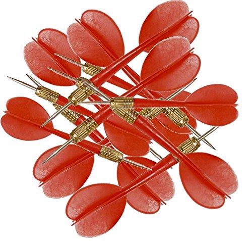 15 Red Plastic Carnival Balloon Darts 4Es Novelty  bonus sticker
