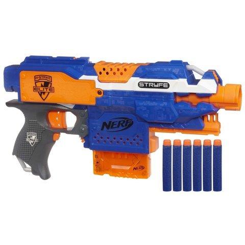 Game  Play Nerf N-Strike Elite Stryfe Blaster Dart Game Target Rifle Gun Toy Bullets Shooter Plastic Toy  Child  Kid