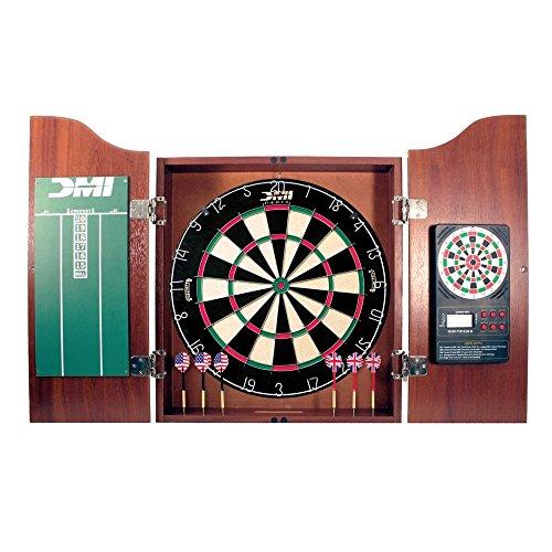 DMI Bristle Dartboard in Cherry Cabinet