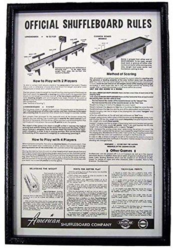 Black Framed Shuffleboard Rules