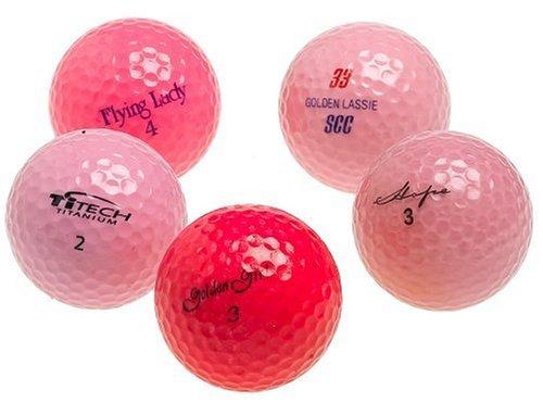 Various Brands Optic Pink Mixed Recycled Golf Balls 48 Pack wmesh bag