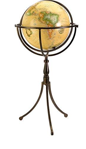Bronze Finish Vaughn Globe On Iron Stand 55-Percent IronAluminumShade 45-Percent GlassLamp Base