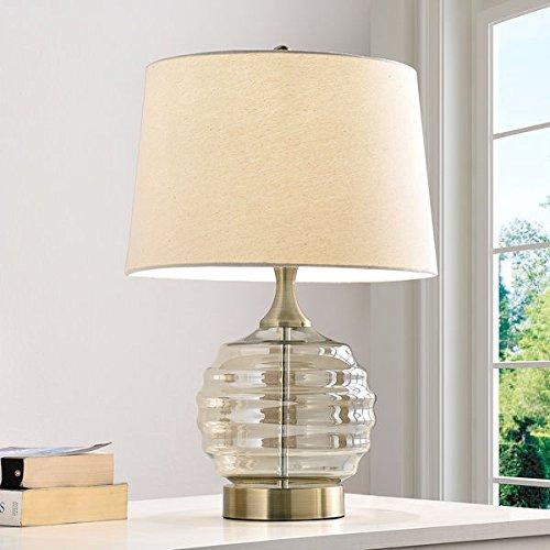 Tuscan Sun Champagne-finish Clear Glass Metal 225-inch Table Lamp