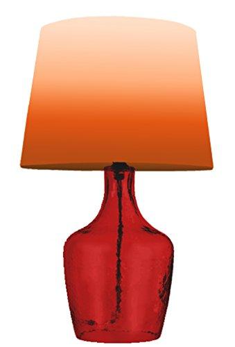 Urban Shop Hand Blown Glass Jug Lamp with CFL Bulb Orange