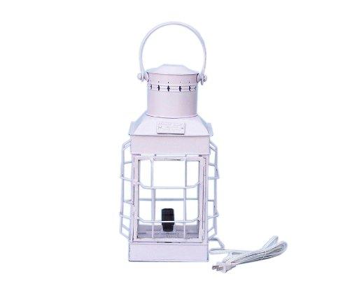 Iron Squared Electric Lamp 19 - White - Decorative Lamp - Nautical Electric Lantern