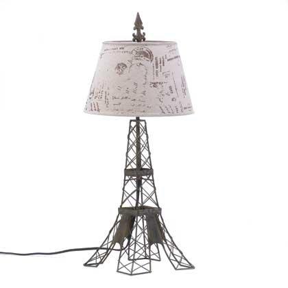 Koehler Indoor Home Decorative Accent Eiffel Tower Parisian Figurine Table Lamp