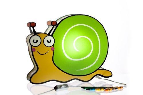 Nursery Lamp Kids Room Lamp - Colorful LED Decorative Lamp - Snail Design by BeetleStar