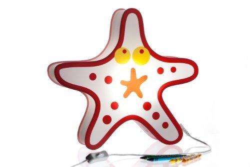 Nursery Lamp Kids Room Lamp - Colorful LED Decorative Lamp - Starfish Design by BeetleStar