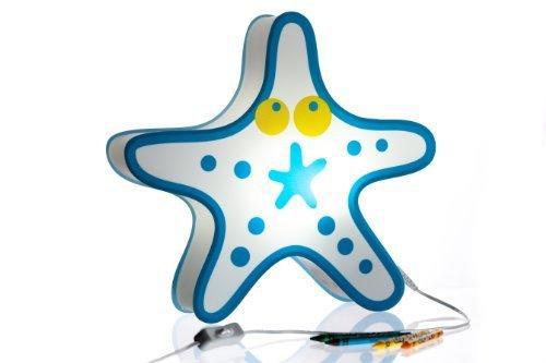 Nursery Lamp Kids Room Light -Colorful LED Decorative Lamp - Starfish Design by BeetleStar