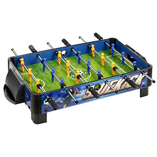 Hathaway Sidekick Foosball Soccer Table BlueGreen 38-Inch