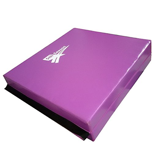 5th Season 3 x 6 x 4 Thick Gymnastics Tumbling Exercise Folding Martial Arts Mats with Hook and Loop Fasteners on 2 Sides Crosslink PE Foam Core purple
