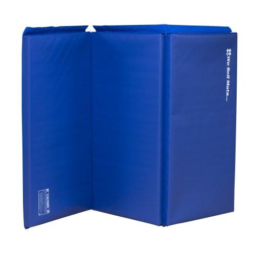 We Sell Mats Folding Gymnastics Tumbling Panel Mat Blue 6-Feet x 15-Inch