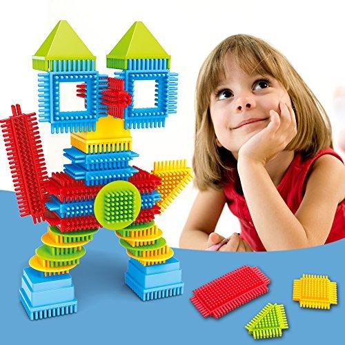 ACRATO Block Building Stacking Toy Set Construction Education Learning Bricks Toys for Preschool Pre-Kindergarten Boys Girls Childern Kids Christmas Gift