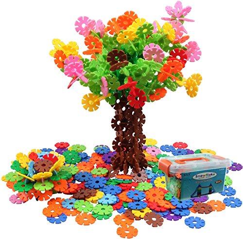 BAA SHOP Snowflakes Toys Stacking Blocks Educational Building Blocks 400 pcs