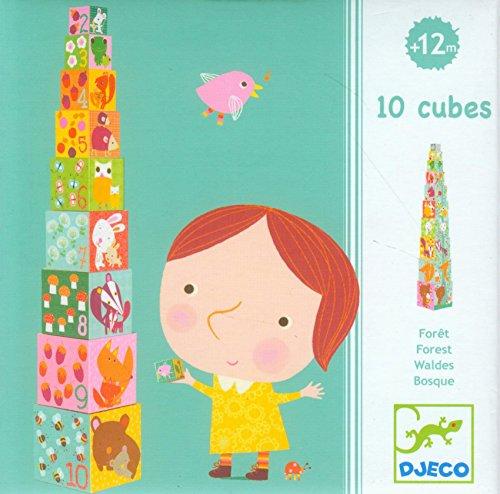 Djeco Forest Blocks - 10 Stacking Blocks