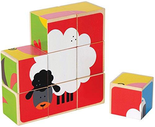 Hape - Farm Animals Wooden Stacking Block Puzzle