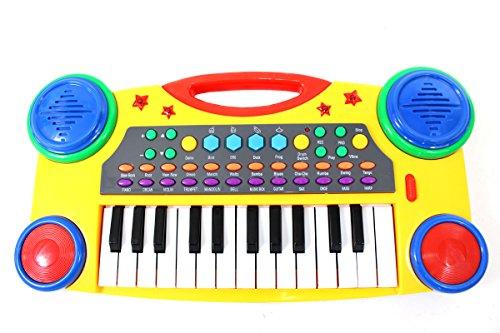 PowerTRC Electronic Music Piano Keyboard for Kids Yellow
