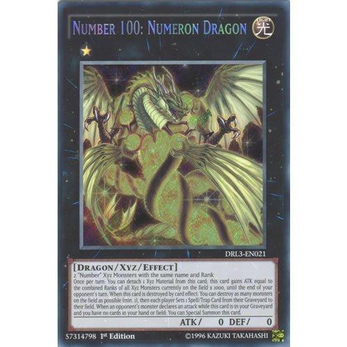 YuGiOh  DRL3-EN021 1st Ed Number 100 Numeron Dragon Secret Rare Card -  Yu-Gi-Oh Single Card  by Deckboosters