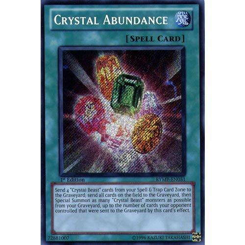 YuGiOh  RYMP-EN051 1st Ed Crystal Abundance Secret Rare Card -  Ra Yellow Mega Pack Yu-Gi-Oh Single Card  by Deckboosters